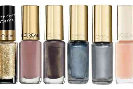 Groupon Goods Global GmbH - L Oreal Paris Colour Riche Nail Varnish Six Pack of 5ml Bottles - Save 71%