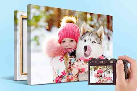 Printerpix - Personalised Photo Canvas in Choice of Size - Save 60%