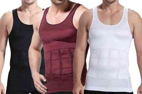 Groupon Goods Global GmbH - Mens Body Shaping Slimming Vest - Save 0%