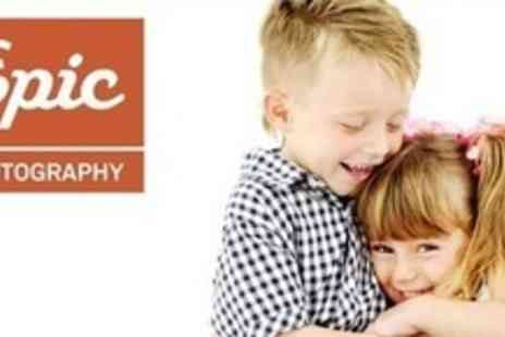 Epic Photography - Three Studio Photo Shoot With Prints - Save 91%