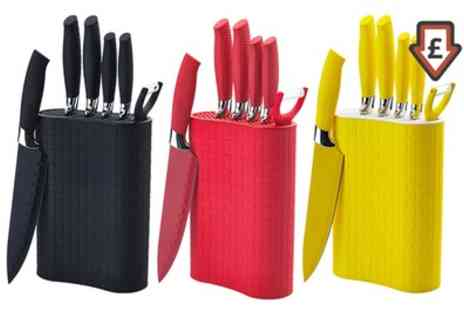 Groupon Goods Global GmbH - Seven Piece Knife Block Set - Save 84%