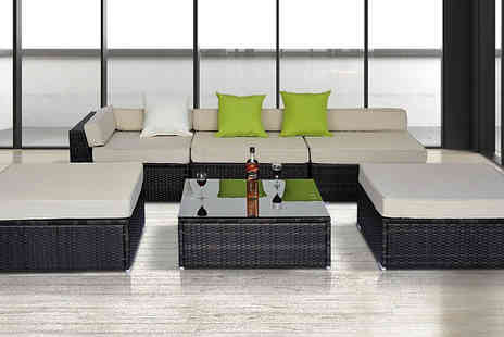 MHSTAR - Six Piece Rattan Sofa and Coffee Table Set - Save 0%