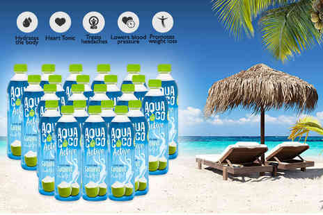 Coconut Merchant - 24 500ml bottles of 100% natural aqua coco coconut water - Save 41%