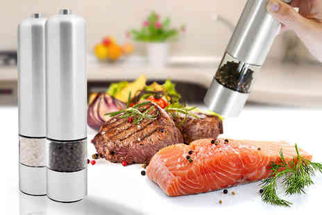 Denny International - Stainless steel electric salt and pepper mill - Save 72%