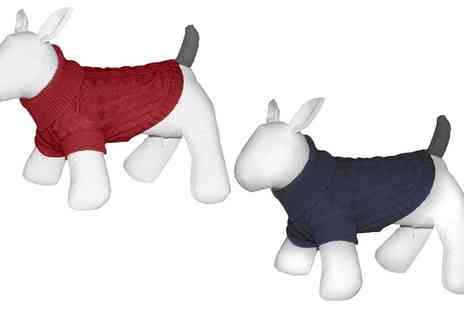 Groupon Goods Global GmbH - Grey Tail Roll Neck Dog Jumper in Choice of Size - Save 0%