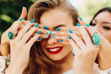Aqua Beauty - Gel Polish Manicure, Pedicure or Both Combined - Save 55%