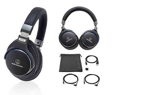 Hanaco - Pair of Audio Technica ATH MSR7 over ear headphones choose from two colours - Save 29%