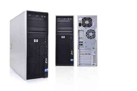 JMN Business Solutions - Refurbished HP Z400 workstation with xeon quad core processor and 160GB hard drive - Save 70%