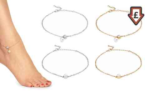 Groupon Goods Global GmbH - Ankle Bracelets Made with Crystals from Swarovski - Save 81%