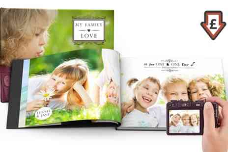 Printerpix - 100 Page Hardcover A4 Photobooks One or Two - Save 87%