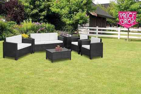 Giomani Designs - Six piece large rattan garden furniture set - Save 56%