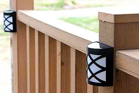 Groupon Goods Global GmbH - Two or Four Pack of Tiffany Style Fence Solar Lights - Save 64%