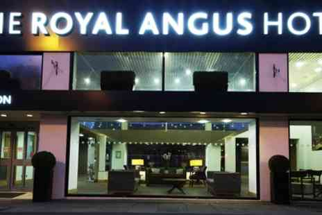 The Royal Angus Hotel - One or two Nights Stay for Up to Four with Breakfast and Drayton Manor Tickets - Save 0%