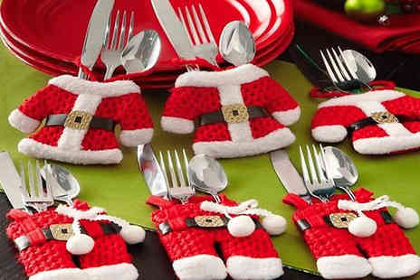 Cappie International AB - 2, 4, 8, or 16 Pieces of Santa Cutlery Holder Set - Save 0%