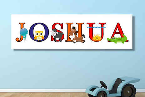 Your Perfect Canvas - Panoramic Letter Canvas in 3 Sizes - Save 87%