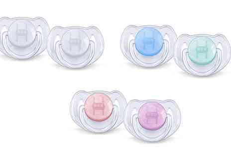 Groupon Goods Global GmbH - Two Pack Philips Advent Translucent Soothers - Save 0%