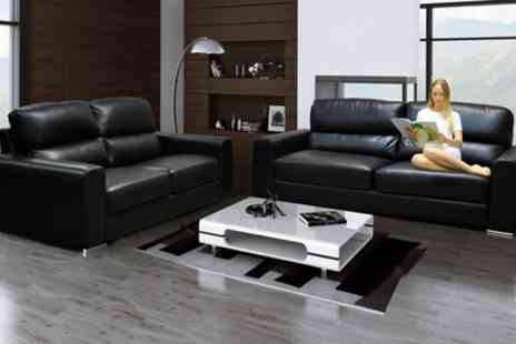 Groupon Goods Global GmbH - Naples Three and Two Seater Sofa Set With Free Delivery - Save 53%