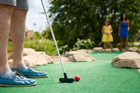 Rhos Fynach - Two Rounds of Mini Golf with Meal and Dessert for One or Two Adults and One or Two Children - Save 0%