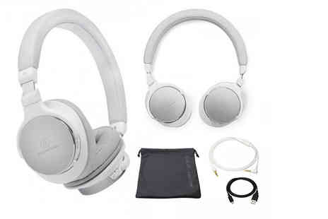 Hanaco - Pair of Audio Technica ATH SR5BT Bluetooth wireless headphones - Save 34%