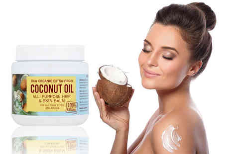 Coconut Merchant - 500ml tub of raw organic extra virgin coconut beauty oil - Save 56%