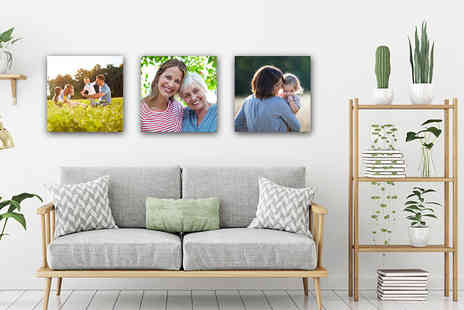 "Deco Matters - Set of three 12"" x 12"" personalised canvas prints - Save 88%"
