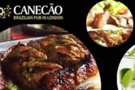 Canecao - Three Course Brazilian Meal For Two - Save 59%