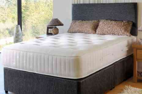 Groupon Goods Global GmbH - Floral Double Knit Pocket and Memory Foam Mattress With Free Delivery - Save 80%