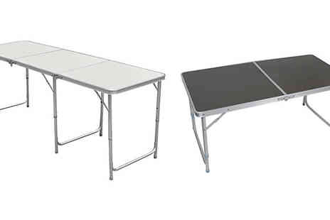 Mscomputers - Folding Aluminium Dining Table 6ft or 4ft - Save 72%