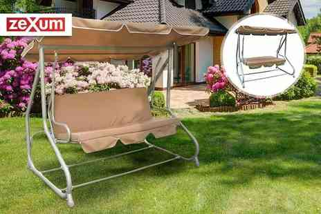 Electrical Europe - Two in one swing bench - Save 73%