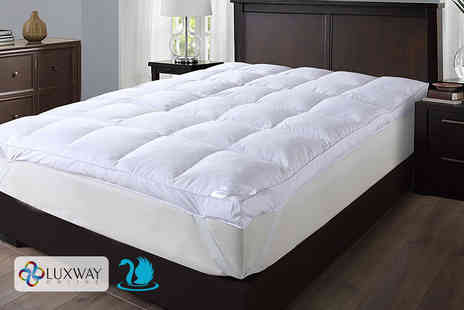 Anb Global - Single extra thick luxury goose feather and down mattress topper - Save 80%