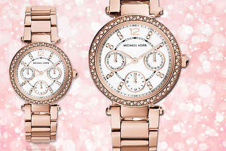 Gray Kingdom - Rose gold plated Michael Kors Mini Parker MK5616 watch - Save 51%