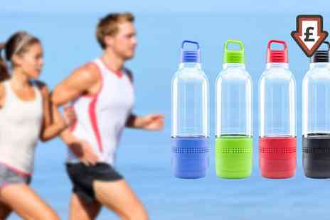 Groupon Goods Global GmbH - Sports Water Bottle with Bluetooth Speaker in Choice of Colours - Save 93%
