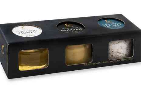 Groupon Goods Global GmbH - Truffle Hunter Three Piece Truffle Condiment Selection - Save 25%