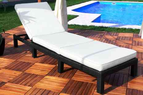 Groupon Goods Global GmbH - Rattan Effect Loungers in Choice of Styles and Colours With Free Delivery - Save 0%