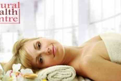 Natural Health Centre - 90 Minute Pamper Package With Massage, Facial, and Manicure or Pedicure - Save 63%