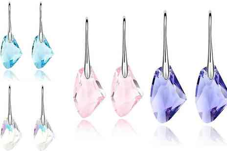 Groupon Goods Global GmbH - Stone Drop Earrings Made with Crystals from Swarovski in Choice of Colours - Save 80%