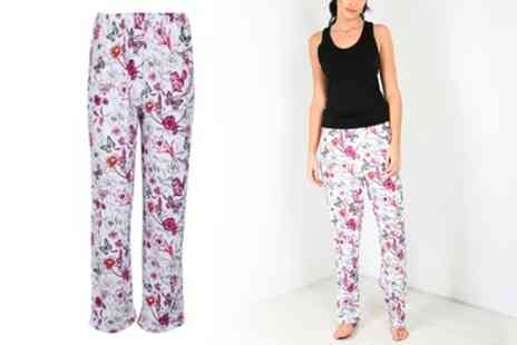 Groupon Goods Global GmbH - Floral Casual Palazzo Trousers - Save 0%