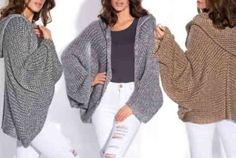 Groupon Goods Global GmbH - Hooded Knitted Cardigan in Choice of Colour - Save 0%