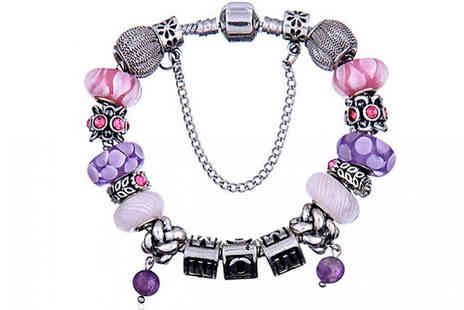 Jewleo - Mom Charm Bracelet  Available in Three Sizes - Save 75%