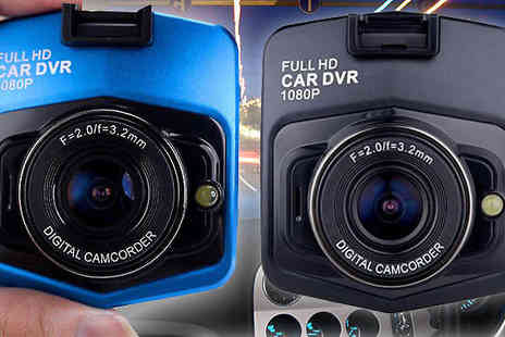 Intradify - Full HD Car Dashboard Camera Plus Night Vision Available in Blue or Black - Save 86%
