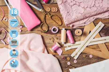 Centre of Excellence - Online sewing diploma course - Save 84%