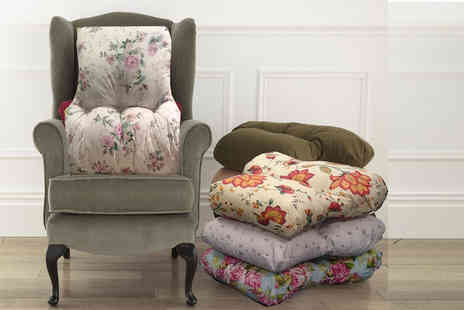 Diana Cowpe - Printed microfibre back support cushion choose from four styles - Save 65%