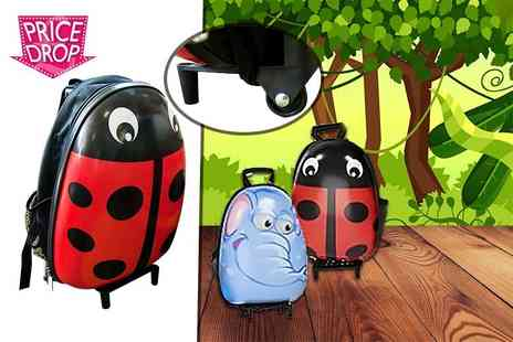 Heads Group - Kids animal suitcase on wheels choose from two fantastic designs - Save 41%