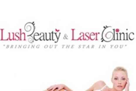 Lush Beauty and Laser Clinic - Six Sessions of Soprano Laser Hair Removal on Two Medium - Save 83%