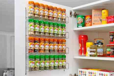 Groupon Goods Global GmbH - Chrome Spice Rack Jar Holder for Wall or Kitchen Cupboard - Save 65%