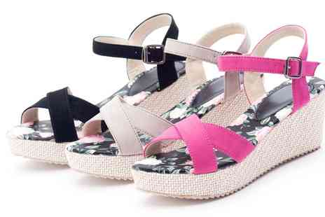 Groupon Goods Global GmbH - Womens Vibrant Espadrille Wedge Sandals in Choice of Colours - Save 75%