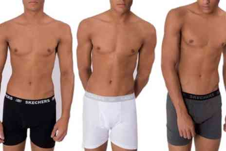 Groupon Goods Global GmbH - Three Pack of Mens Skechers Boxers - Save 0%