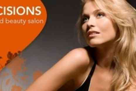 Decisions Hair and Beauty Salon - Half Head Highlights With Cut and Conditioning Treatment - Save 63%