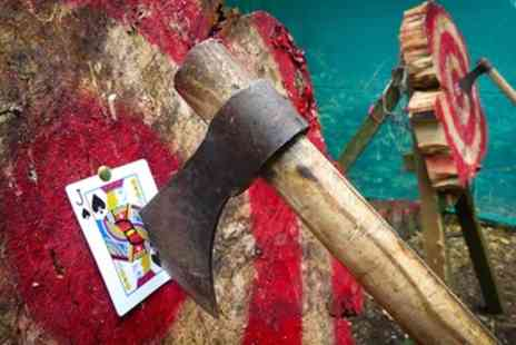 Live For Today Adventures - Tomahawk Axe Throwing Sessions for One or Two - Save 50%