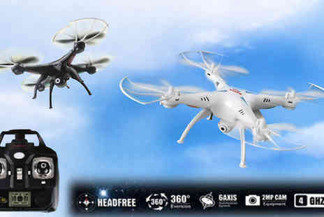 Bazaar me - RC 6 Axis Quadcopter Drone with 2MP Wi-Fi Camera Choose Two Colours - Save 60%